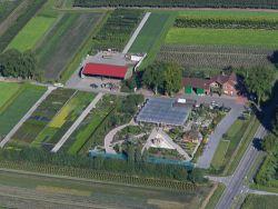 Luftaufnahme des Geländes der Baumschulen Terbrack